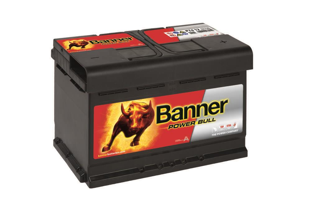 Autobaterie Banner Power Bull    12V 74Ah 680A P74 12